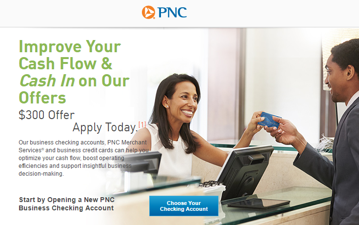 PNC Bank Business Checking Review: $100-$300 Promotions