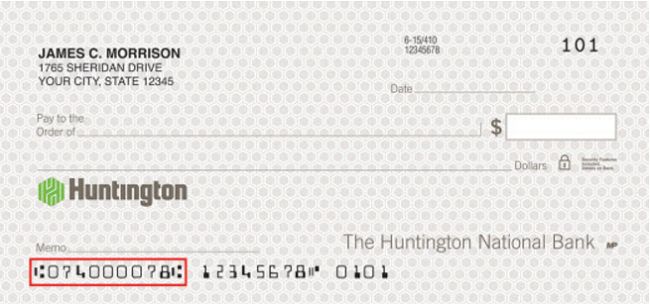 four ways to find huntington bank routing number