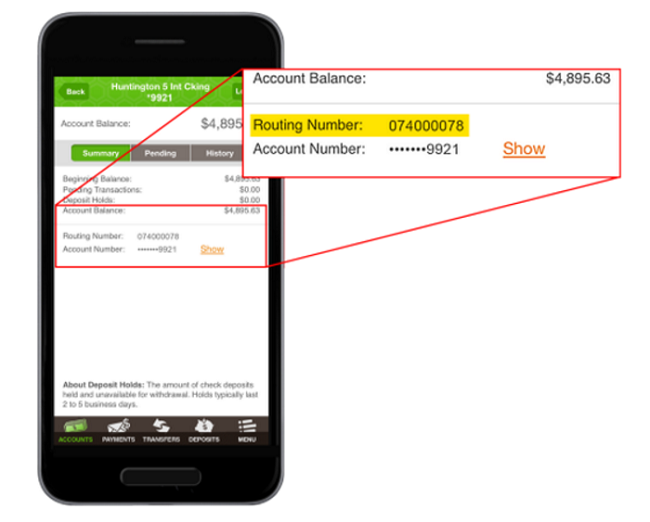 Td Bank Domestic Wire Routing Number: Four Ways To Find Huntington Bank Routing Number - Bank Deal Guyrh:bankdealguy.com,Design