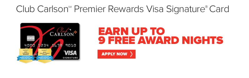 Club Carlson Premier Reward Card