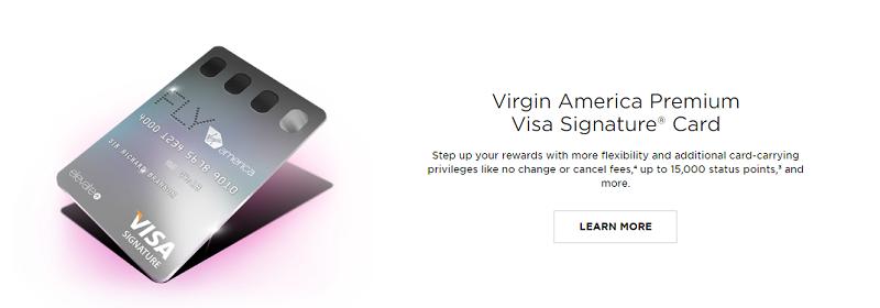 Virgin America Premium Visa Signature Card