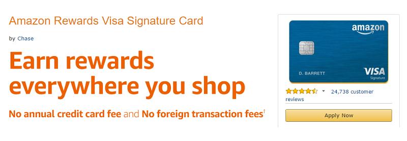 Amazon Rewards Visa Signature Card $10 Gift Card Bonus + Up To 10 ...