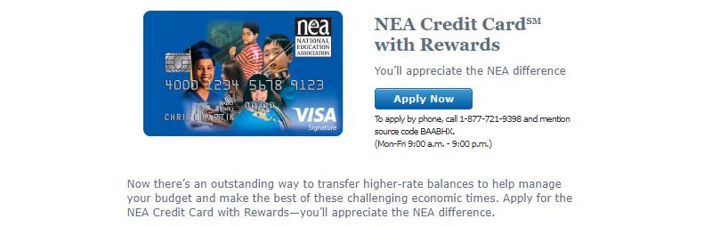 Bank of America NEA Credit Card