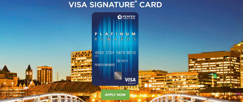 PenFed Platinum Rewards Visa Signature Card Bonus