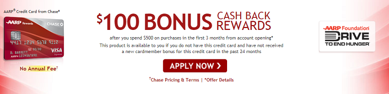 Chase Aarp Credit Card 100 Cash Back Promotion 3 Cash