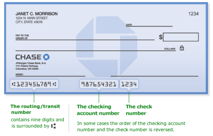 Chase Bank Routing Transit Number - Bank Deal Guy