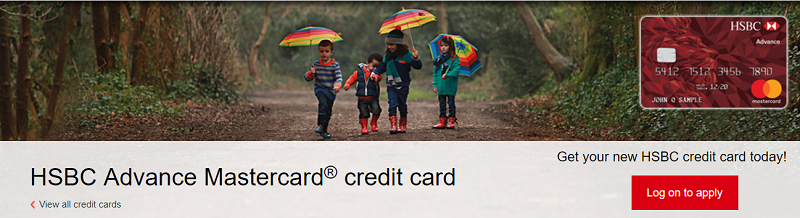 HSBC Advance Mastercard Credit Card $250 Cash Bonus