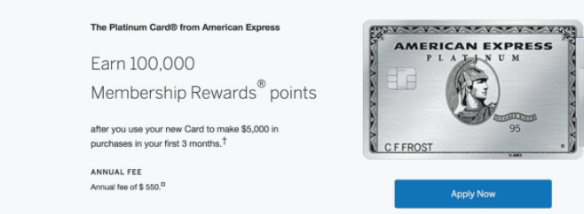 American Express Personal Platinum Card Review: 100,000