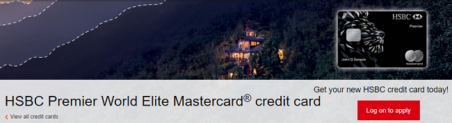 HSBC Premier World Elite Mastercard 50,000 Bonus Points + 3X