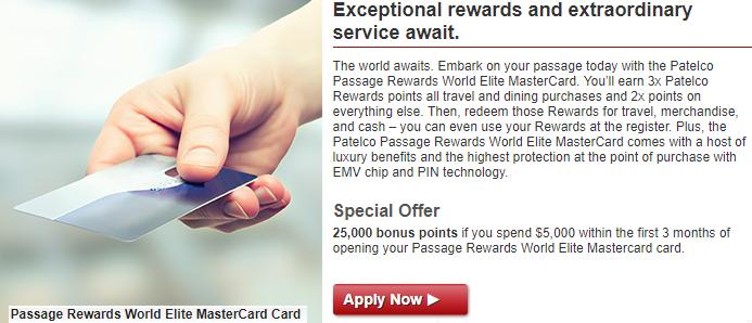 Passage Rewards World Elite Mastercard Credit Card 25 000
