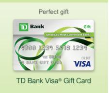 TD Bank Visa Gift Card - A Perfect Gift Solution